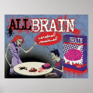 AllBrain - matinal cerebral Posters