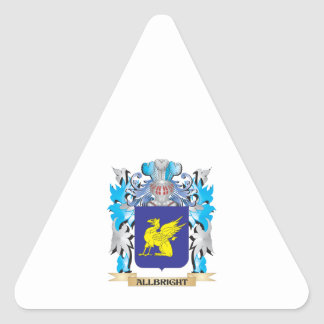 Allbright Coat Of Arms Triangle Sticker