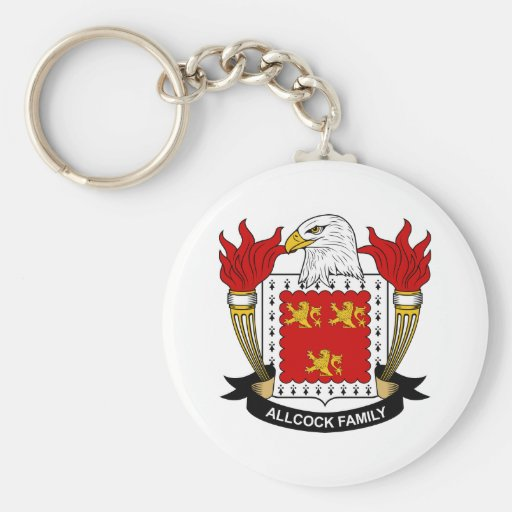 Allcock Family Crest Keychain