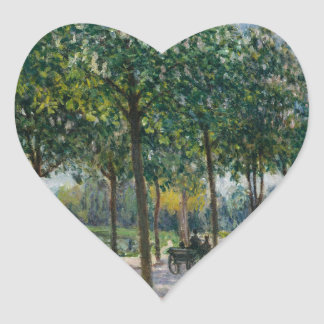 Allée of Chestnut Trees - Alfred Sisley Heart Sticker