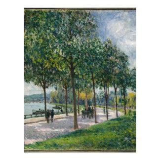 Allée of Chestnut Trees - Alfred Sisley Letterhead