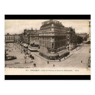Allees de Tourny, Bordeaux, France Vintage Postcard