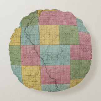 Allegany County Round Pillow