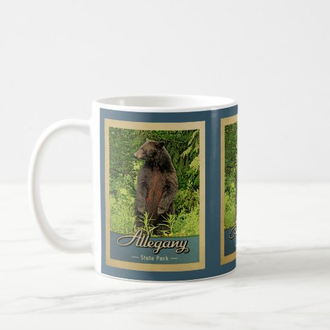 Allegany State Park Vintage Bear Coffee Mug