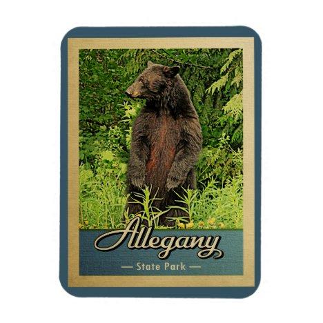 Allegany State Park Vintage Bear Magnet