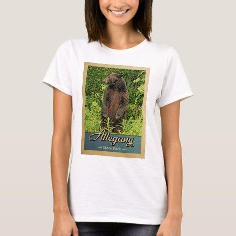 Allegany State Park Vintage Bear T-Shirt
