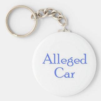 Alleged Car Keyring Basic Round Button Keychain