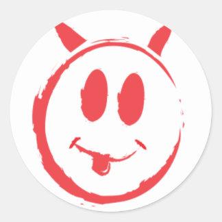 Alleged_smiley_killer_symbol Classic Round Sticker