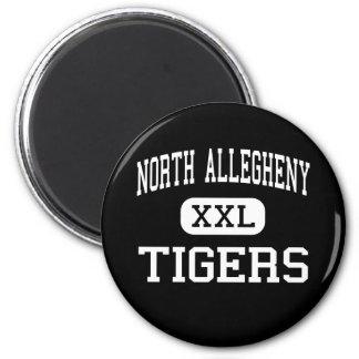 Allegheny del norte - tigres - Pittsburgh Imán Redondo 5 Cm