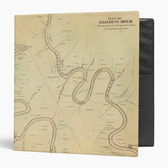 Allegheny River 3 Ring Binder