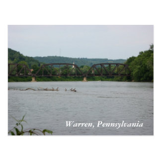 Allegheny River in Warren, PA (postcard)