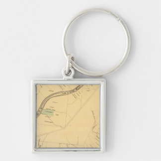 Allegheny River Pa, Map Keychain