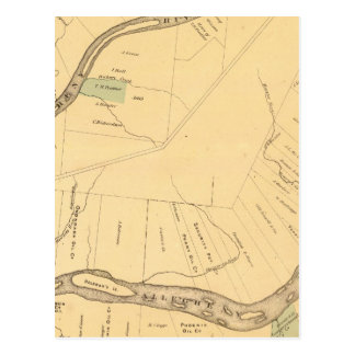 Allegheny River Pa, Map Postcard