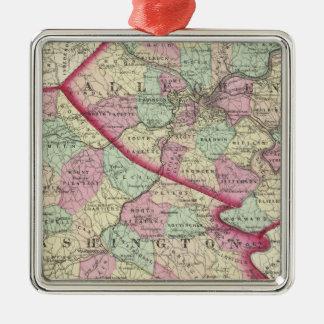 Allegheny, Washington, Greene counties Metal Ornament