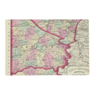 Allegheny, Washington, Greene counties Placemat