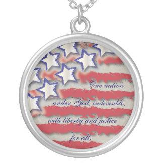 Allegiance Flag Stars & Stripes Necklace