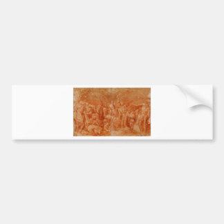 Allegoria macabra by Rosso Fiorentino Bumper Sticker