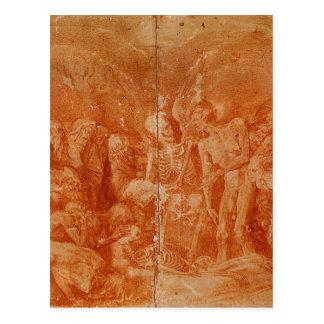 Allegoria macabra by Rosso Fiorentino Postcard