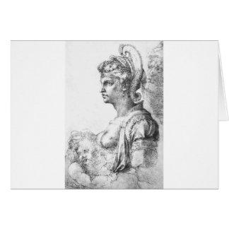 Allegorical figure by Michelangelo Card
