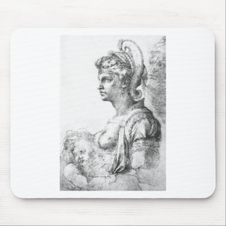 Allegorical figure by Michelangelo Mouse Pad