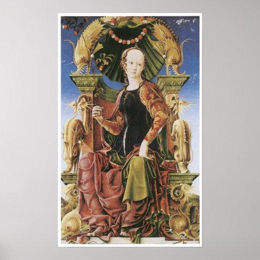 Allegorical Figure, c. 1455-60 Posters