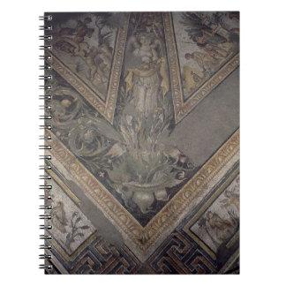 Allegorical figure of Autumn, detail of a mosaic p Spiral Notebook