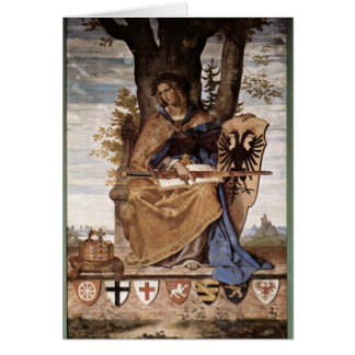Allegorical Figure Of Germania By Veit Philipp Greeting Card