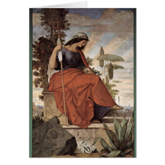Allegorical Figure Of Italia By Veit Philipp Greeting Card