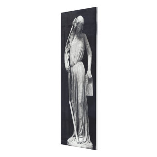 Allegorical figure of The Synagogue Canvas Print