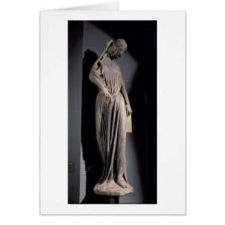 Allegorical figure of The Synagogue, from the sout Card
