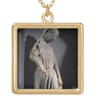 Allegorical figure of The Synagogue, from the sout Square Pendant Necklace