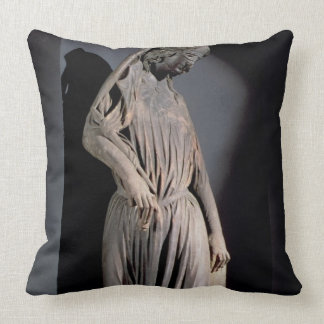 Allegorical figure of The Synagogue, from the sout Throw Pillow