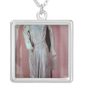 Allegorical figure of The Synagogue Silver Plated Necklace