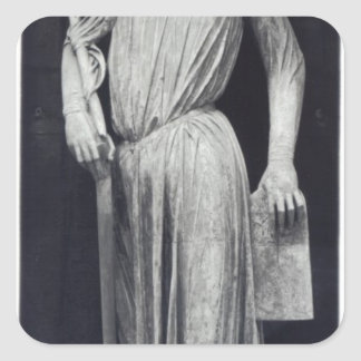 Allegorical figure of The Synagogue Square Sticker
