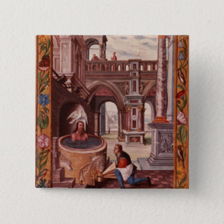 Allegorical illustration of an Alchemist at Pinback Button
