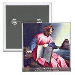 Allegorical Portrait Of Dante 2 Inch Square Button