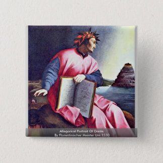Allegorical Portrait Of Dante Button