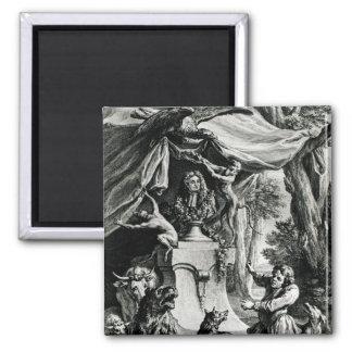Allegorical portrait of Jean de La Fontaine Magnet