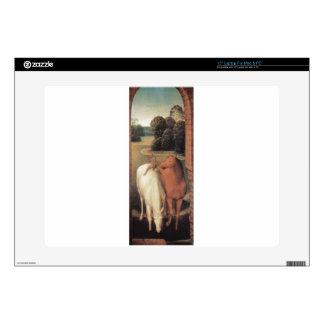 "Allegorical representation of two horses 15"" laptop skin"