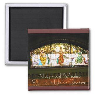 Allegorical Window - ST Louis Union Station Magnet