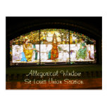 Allegorical Window - ST Louis Union Station Postcard