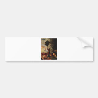Allegory (Allegory of prudence) by Lorenzo Lotto Bumper Sticker
