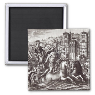 Allegory celebrating 2 inch square magnet