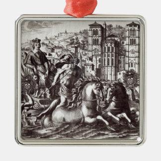 Allegory celebrating metal ornament