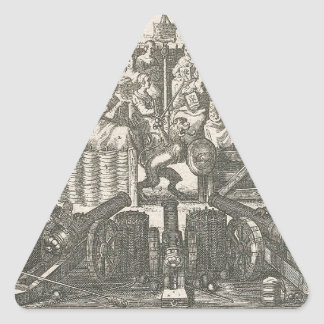 Allegory depicting the Pacification Ghent Adriaen Triangle Sticker
