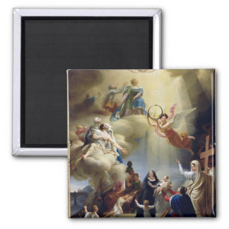 Allegory in Honour of the Birth of Henri de 2 Inch Square Magnet