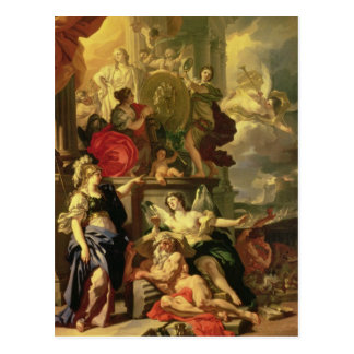 Allegory of a Reign, 1690 Postcard