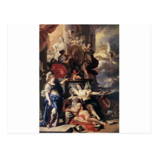 Allegory of a Reign by Francesco Solimena Postcard