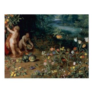 Allegory of Abundance, detail Postcard