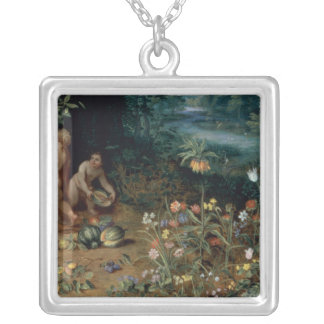 Allegory of Abundance, detail Silver Plated Necklace